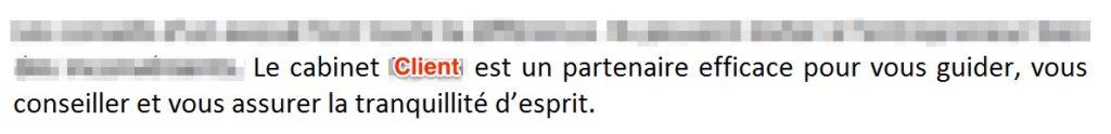Plagiat soumis par Nadine Girard de Mousse Communication